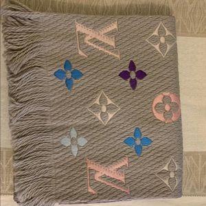 Louis Vuitton logomania rainbow monogram scarf